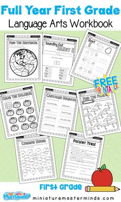 First Grade Language Arts Full Year Work Book