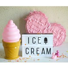 Veilleuse ice cream rose