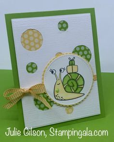Belated Birthday Card, Birthday Cards, 21 Cards, Note Cards, Snail Cards, Treat Holder, Stamping Up Cards, Animal Cards, For Facebook