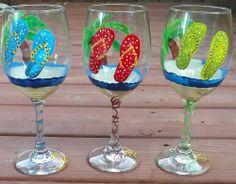 beach wine glasses - Google Search