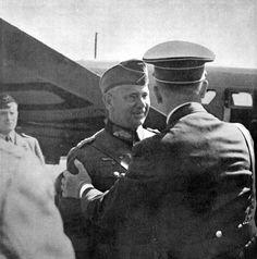 Hitler in Poland by Heinrich Hoffmann -- The Fuhrer welcomes General of Artillery von Reichenau