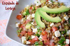 Ensalada de lenteja #receta #salad