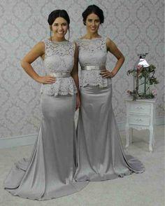 1e4f4e11da98 Grey Lace Bridesmaid Dresses - Wedding and Bridal Inspiration