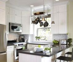 small cabinets on top with trim... @Janelle Lindemulder