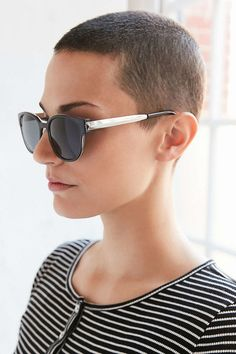 Thinking about switching things up by shaving some or all of your hair? We've compiled 60 of the best edgy undercuts and bold side shaved hairstyles for women! Buzz Cut Hairstyles, Short Hairstyles For Women, Shaved Hairstyles, Haircuts, Buzz Haircut, Pixie Haircut, Short Pixie, Short Hair Cuts, Short Hair Styles