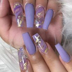 Easy Halloween Nail Art Ideas for Teens lila Halloween-Nagelkunst Purple Acrylic Nails, Best Acrylic Nails, Purple Nails, Acrylic Spring Nails, Nails With Gold, Violet Nails, Blush Nails, Aycrlic Nails, Dope Nails