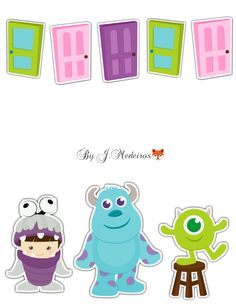 Monsters Inc Bedroom, Monsters Inc Girl, Monsters Inc Doors, Monsters Ink, Monster Inc Birthday, Monster Inc Party, Scrapbook Bebe, Disney Illustration, Baby Clip Art