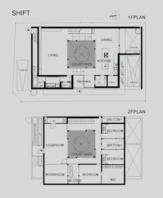 shift5 architecture Modern Japanese Courtyard Home