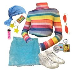 """""""hubba bubba"""" by silkwitch on Polyvore featuring Gentle Monster and Golden Goose"""