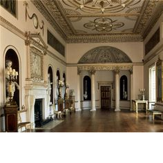 The dining room at Syon House completed by Adam in with apsidal ends screened by Corinthian columns. The niches facing the windows frame gods, such as Bacchus and Ceres. from Country Life magazine - UK's great homes Kenwood House, Country Life Magazine, British Country, Grand Homes, English Style, Life Pictures, House Rooms, Great Rooms, Taj Mahal