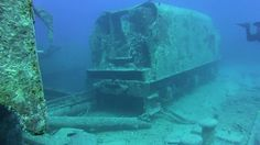 """In 1985, archaeologists discovered a """"train graveyard"""" off the coast of New Jersey, with locomotives and train cars dating back to the 1850's. Not surprised New Jersey would waste them… Read more at: http://dailydi.sh/Pfexr"""