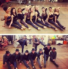 BULLETS OVER BROADWAY Rehearsals. Girls vs Guys splits contest http://www.todomusicales.com/content/content/4833/marin-mazzie-se-incorpora-al-elenco-original-de-bullets-over-broadway-en-broadway/