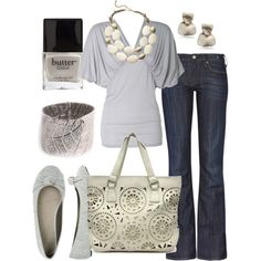 grey & white, created by htotheb on Polyvore