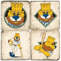 Marble MLB Mascot Coasters (Set of 4)