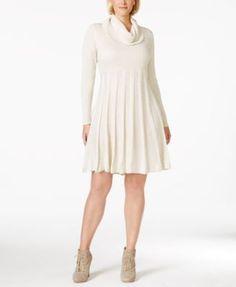 c67c20bc01a Calvin Klein Plus Size Cowl-Neck Sweater Dress Plus Size Sweater Dress