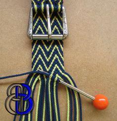 Ply-Split Braided Linen Belt Cobalt and Citrus Green. от BearKnots
