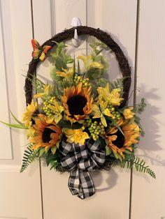 Artificial Floral Arrangements, Baskets On Wall, Grapevine Wreath, Grape Vines, Wreaths, Flat, Shop, Etsy, Home Decor