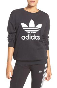 Free shipping and returns on adidas Originals Trefoil Crewneck Sweatshirt at…