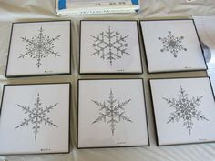 geometric snowflake prints | Geometric Snowflake Drawings - The Edward L Platt Geometric Snowflakes ...