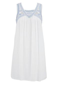 summer dresses: shift dress with open work and embroidery #maurices