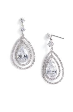 CZ by Kenneth Jay Lane Pear Pavé Drop Earrings. JUST BOUGHT THESE FOR MY WEDDING!!!