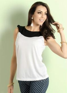 Blusa Bicolor (Branca e Preta)