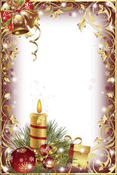 Gold Transparent Christmas Photo Frame/Many Frames Christmas Border, Christmas Frames, Noel Christmas, Christmas Background, Christmas Paper, Christmas Wallpaper, Christmas Pictures, Vintage Christmas, Christmas Ornament