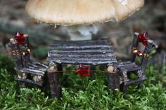 (Disclaimer: All of a sudden today, not having a macro lens really hurt. So.. these are not astounding shots, but this furniture is very sma...