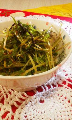 【大嫌い!な水菜が旨すぎるサラダ】水菜嫌いさん寄っておいで!食感も味も水菜ならではの良さが際立つサラダだょ!一度はお試しあれ! Vegetable Sides, Vegetable Salad, Mc Menu, Seaweed Salad, Japanese Food, Green Beans, Salad Recipes, Tapas, Side Dishes