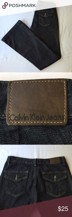 Calvin Klein Dark Denim Jeans, 27/4 Awesome Calvin Klein Dark Denim Flare Jeans, 27/4. In excellent condition, no defects and comes from a smoke/pet-free home. Calvin Klein Jeans Jeans Flare & Wide Leg