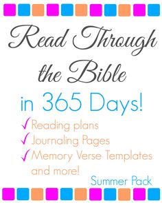 Read Through the Bible in 365 Days