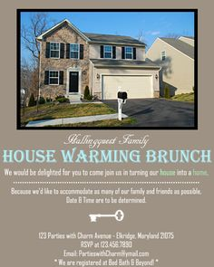 Housewarming Party Invitations | Parties with Charm