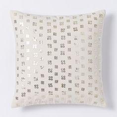 7dca822d56fc Sequined Grid Pillow Cover - Muslin. Living Room PillowsBed ThrowsThrow PillowsWest  Elm ...