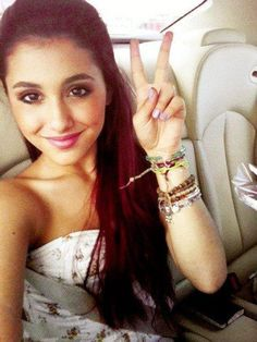 Ariana Grande. This was my inspiration for red hair.