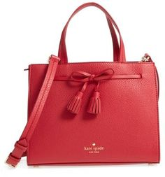 Kate Spade New York Hayes Street Small Isobel Leather Satchel - Red
