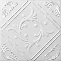 "Decorative Ceiling Tiles, Inc. Store - Diamond Wreath - Styrofoam Ceiling Tile - 20""x20"" -"