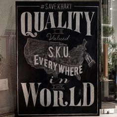 Quality is valued everywhere in the world.For SAVE KHAKI UNITED.