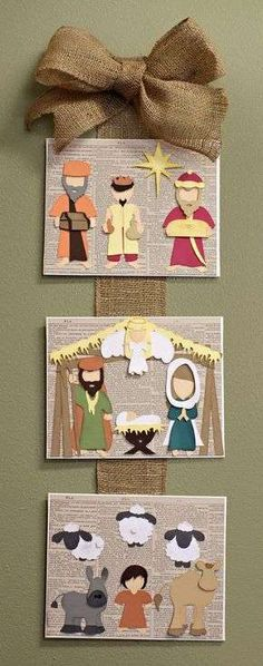 In a Manger Cutting Collection: WPC, AI, and SVG cutting files Away In a Manger Nativity Scene Wall Hanging SVG Cutting File CollectionAway In a Manger Nativity Scene Wall Hanging SVG Cutting File Collection Noel Christmas, Christmas Nativity, All Things Christmas, Christmas Ornaments, Felt Ornaments, Nativity Crafts, Christmas Projects, Holiday Crafts, Nativity Clipart