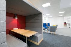 Customisable meeting pod for innovative offices, perfect for fostering efficiency, creativity and a feel-good factor in your workspace. #workspace #officespace #officedesign #offceinterior