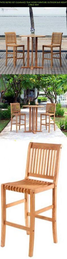 Patio Bistro Set Clearance Teak Wood Furniture Outdoor Bar Height 3 piece  NEW  furniture  Porch Patio Rocking Chair Wooden Cushion Outdoor Deck Furniture  . Teak Chair Parts. Home Design Ideas