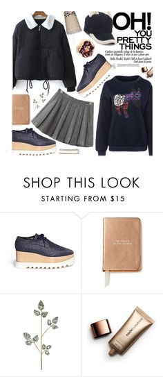 """""""School Style: Puffer Jacket"""" by beebeely-look ❤ liked on Polyvore featuring STELLA McCARTNEY, Kate Spade, Guide London, Frontgate, Nude by Nature, BackToSchool, school, pleatedskirt, schoolstyle and sammydress"""