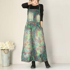 Denim Printed Strap Dress