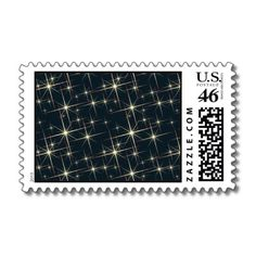 Retro Starfield Postage Stamps
