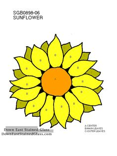 Fantastic Free of Charge Stained Glass sunflower Thoughts With the fall with 1998 I made a decision which I personally needed yet another leisure activity intended for . Stained Glass Patterns Free, Stained Glass Flowers, Faux Stained Glass, Stained Glass Designs, Stained Glass Panels, Stained Glass Projects, Mosaic Patterns, Sunflower Quilts, Sunflower Pattern