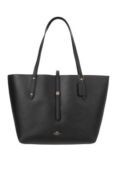 Handväska Market Tote In Polished Pebble Leather BLACK - Coach - Designers - Raglady