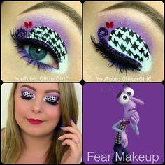Inside Out Fear Makeup. Youtube channel: full.sc/SK3bIA