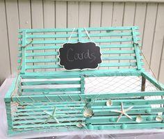 DIY Lobster Trap Card Box : wedding beach card box cardbox diy ...