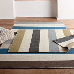 Company Wool Stripe Flatweave Rug from The Company Store