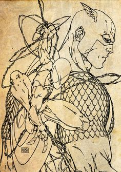 Spider-Man & Captain America - Michael Turner