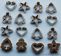 MINI COOKIE CUTTERS Christmas Silver Gingerbread Star by Saph1re